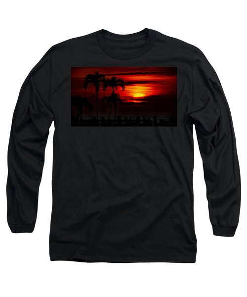 Long Sleeve T-Shirt featuring the photograph Marco Island Sunset 59 by Mark Myhaver