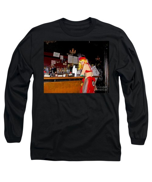 Long Sleeve T-Shirt featuring the photograph Mardi Gras Bar French Quarter by Luana K Perez