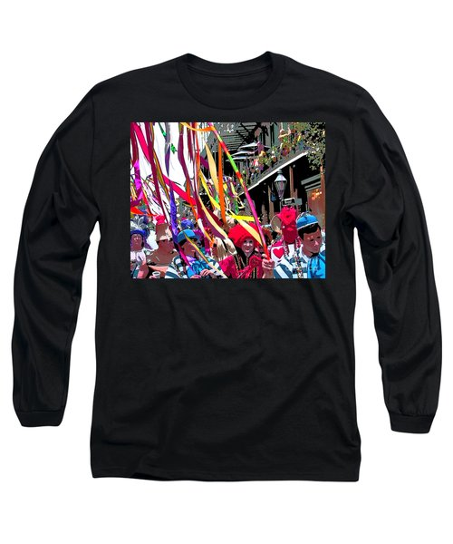 Long Sleeve T-Shirt featuring the photograph Mardi Gras Marching Parade by Luana K Perez