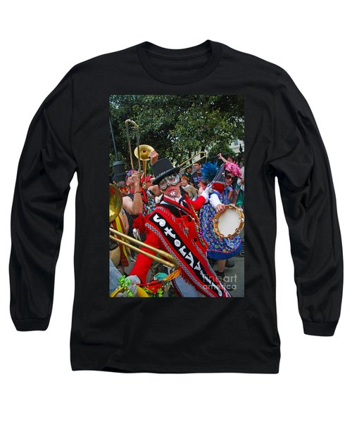 Mardi Gras Storyville Marching Group Long Sleeve T-Shirt by Luana K Perez