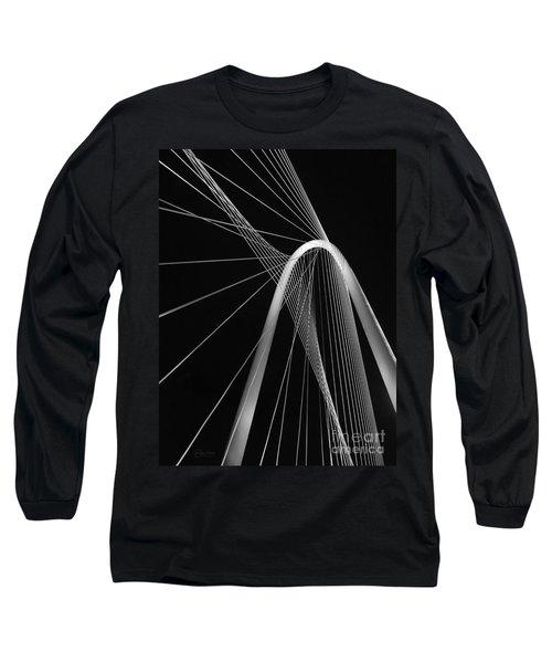 Margaret Hunt Hill Bridge Dallas Texas Long Sleeve T-Shirt