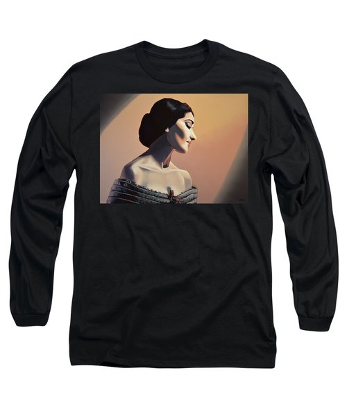 Maria Callas Painting Long Sleeve T-Shirt