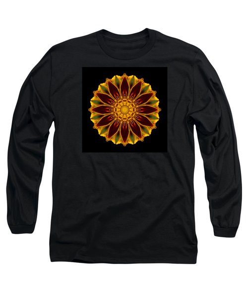 Long Sleeve T-Shirt featuring the photograph Marigold Flower Mandala by David J Bookbinder