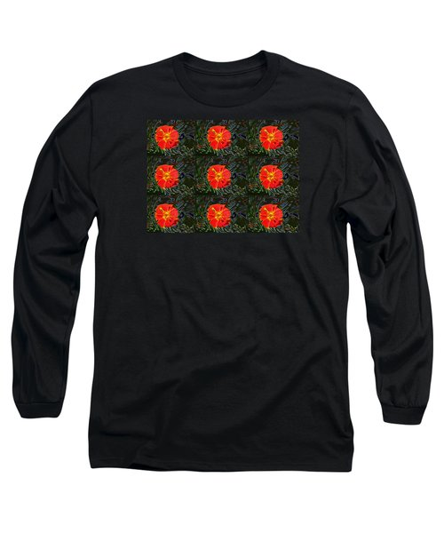 Long Sleeve T-Shirt featuring the photograph Marigold Mighty by Kathy Bassett