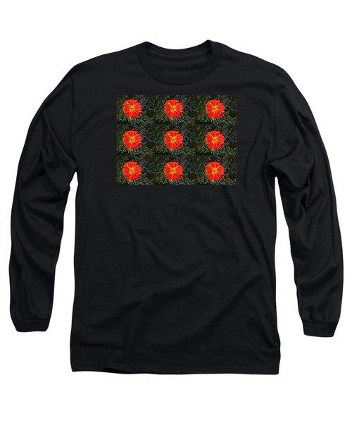 Marigold Mighty Long Sleeve T-Shirt by Kathy Bassett