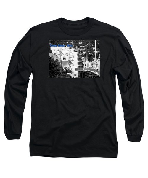 Long Sleeve T-Shirt featuring the photograph Marilyn In Cannes by Jennie Breeze