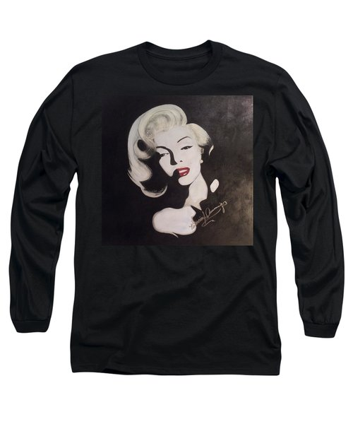 Marilyn In The Moonlight Long Sleeve T-Shirt
