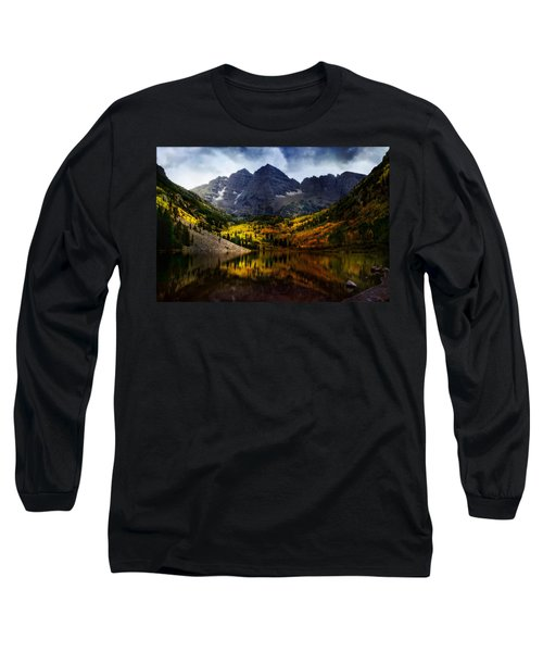Long Sleeve T-Shirt featuring the photograph Maroon Bells - An American Icon by Ellen Heaverlo