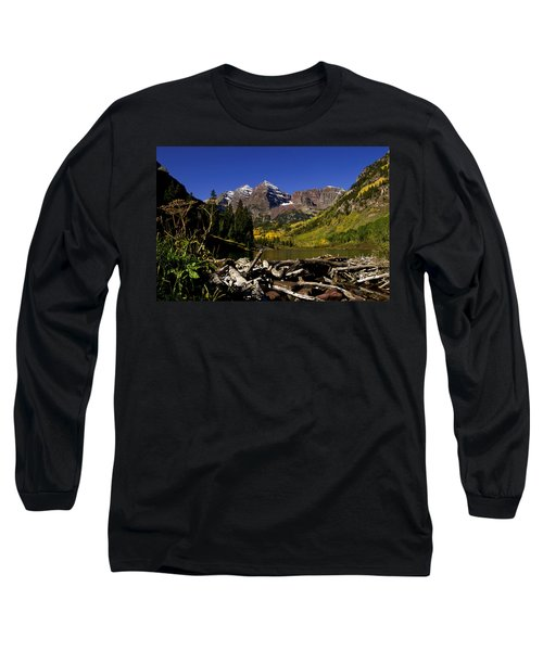 Long Sleeve T-Shirt featuring the photograph Maroon Bells by Jeremy Rhoades