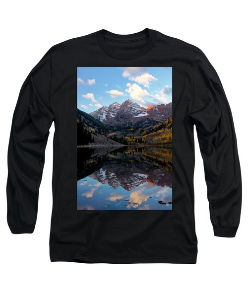 Long Sleeve T-Shirt featuring the photograph Maroon Bells by Ronda Kimbrow