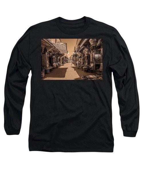 Marrackech Souk At Noon Long Sleeve T-Shirt