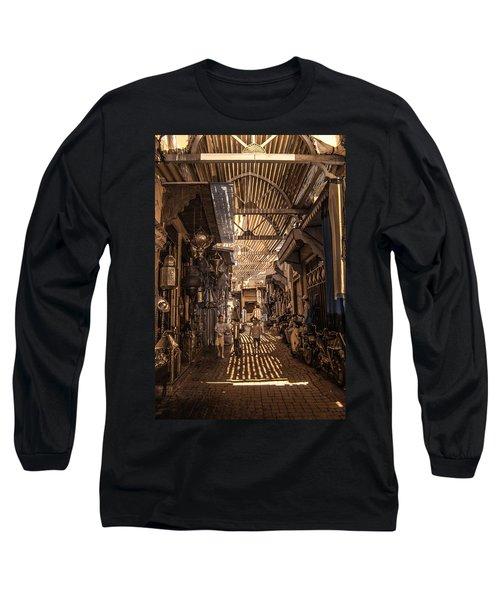 Marrakech Souk With Children Long Sleeve T-Shirt