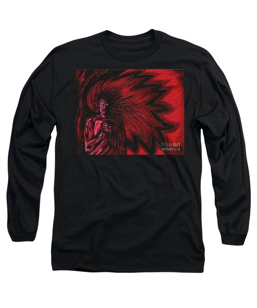 Long Sleeve T-Shirt featuring the painting Mars Rising by Roz Abellera Art