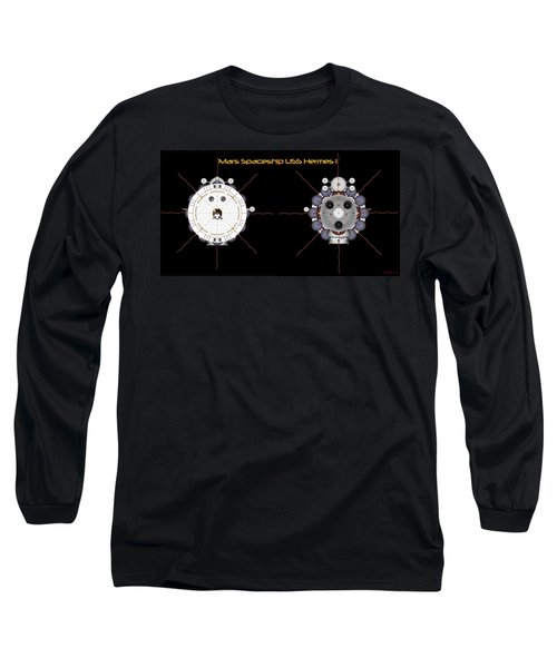 Mars Spaceship Hermes1 Front And Rear Long Sleeve T-Shirt by David Robinson