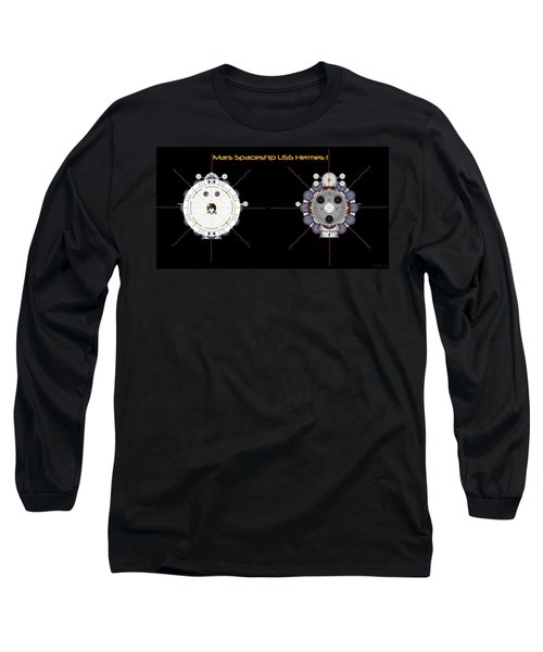 Mars Spaceship Hermes1 Front And Rear Long Sleeve T-Shirt