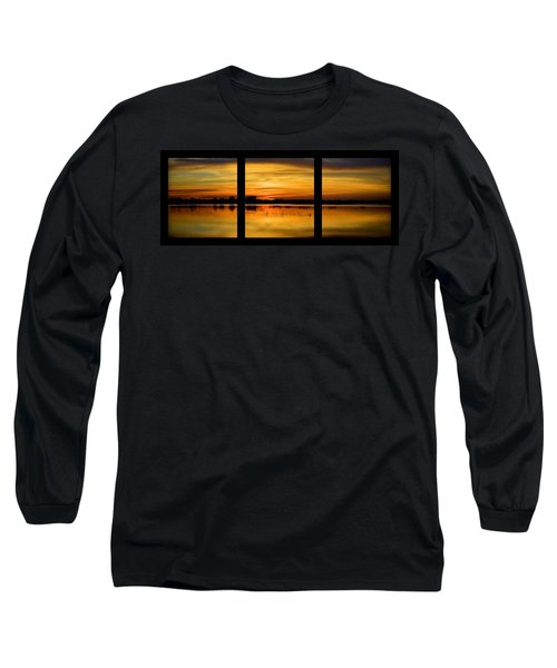 Marsh Rise Tiles 1-3 Long Sleeve T-Shirt by Bonfire Photography