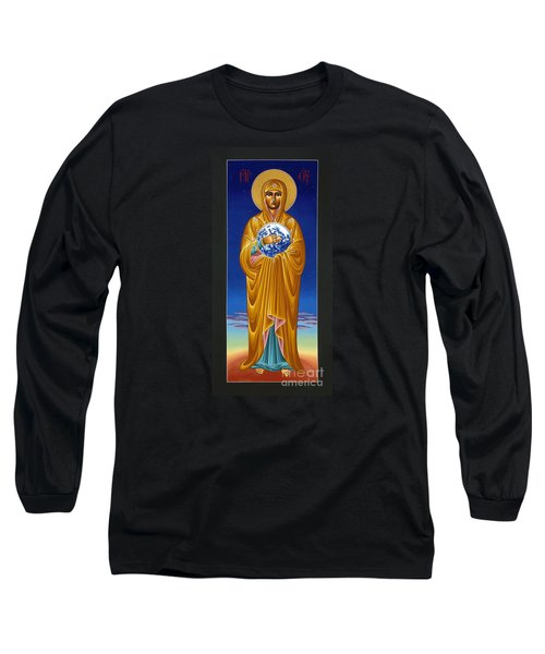 Mary Most Holy Mother Of All Nations 080 Long Sleeve T-Shirt by William Hart McNichols