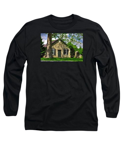 Maryland Country Churches - Fairview Chapel-1a Spring - Established 1847 Near New Market Maryland Long Sleeve T-Shirt by Michael Mazaika