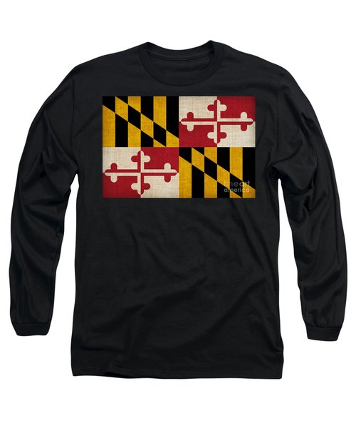 Maryland State Flag Long Sleeve T-Shirt