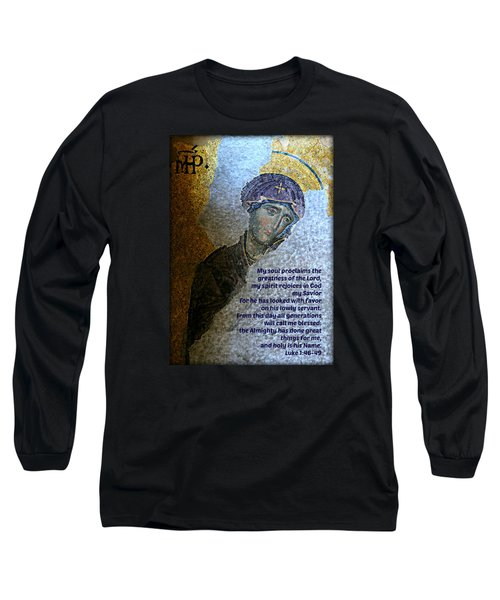 Mary's Magnificat Long Sleeve T-Shirt by Stephen Stookey