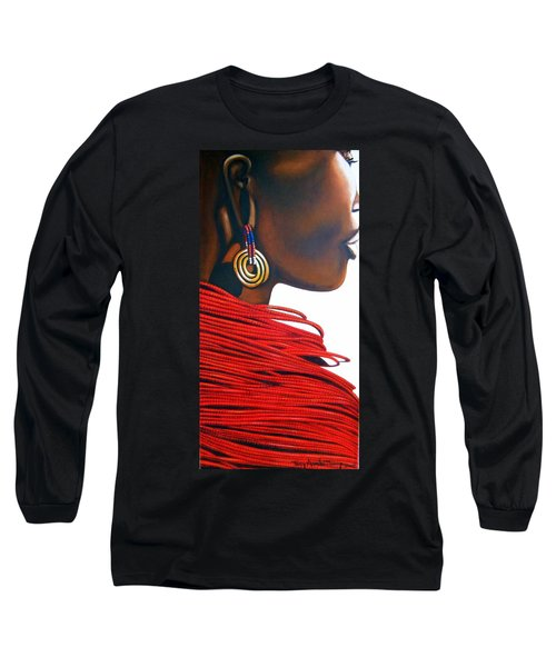 Masai Bride - Original Artwork Long Sleeve T-Shirt