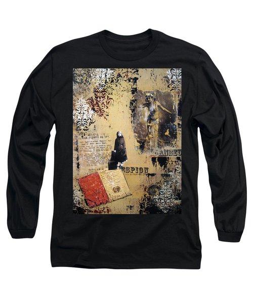 Long Sleeve T-Shirt featuring the painting Mata Hari by Debra Crank