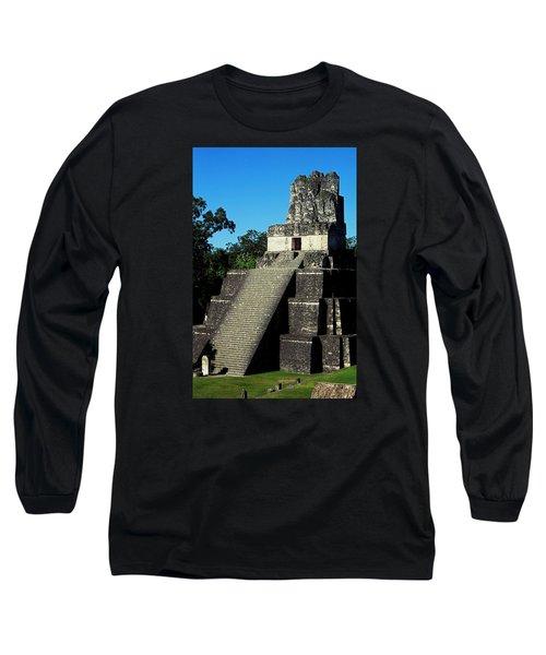 Mayan Ruins - Tikal Guatemala Long Sleeve T-Shirt by Juergen Weiss