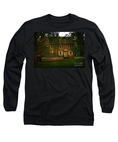 Long Sleeve T-Shirt featuring the photograph Mcconkey's Ferry Inn by Debra Fedchin