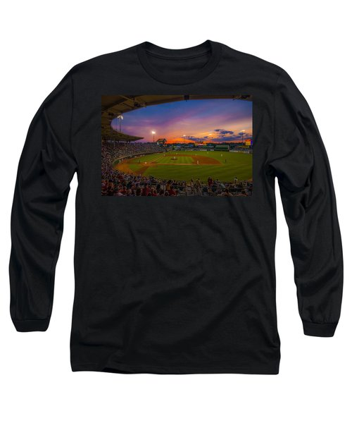 Mccoy Stadium Sunset Long Sleeve T-Shirt by Tom Gort