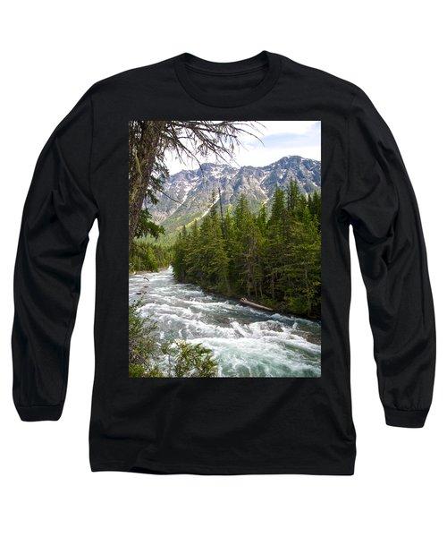 Mcdonald Creek In Glacier Np-mt Long Sleeve T-Shirt