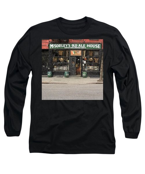 Mcsorley's Old Ale House During A Snow Storm Long Sleeve T-Shirt