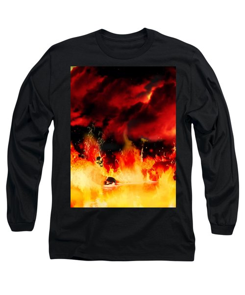 Meanwhile In Tartarus Long Sleeve T-Shirt by Persephone Artworks