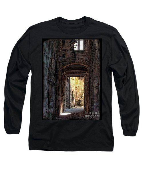 Medieval Alley Long Sleeve T-Shirt by Joan  Minchak