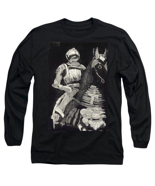 Medieval Knight On Horseback - Chevalier - Caballero - Cavaleiro - Fidalgo - Riddare -ridder -ritter Long Sleeve T-Shirt