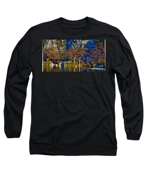 Medina River At Comanche Cliffs Long Sleeve T-Shirt