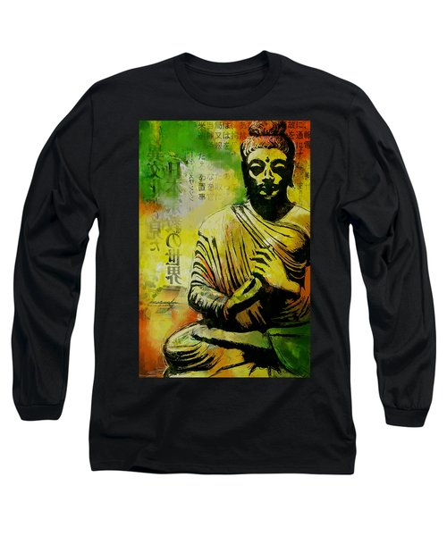 Meditating Buddha Long Sleeve T-Shirt