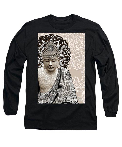 Meditation Mehndi - Paisley Buddha Artwork - Copyrighted Long Sleeve T-Shirt