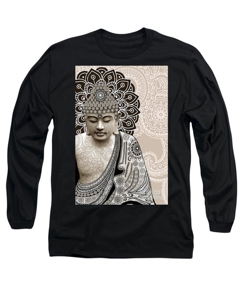 Meditation Mehndi - Paisley Buddha Artwork - Copyrighted Long Sleeve T-Shirt