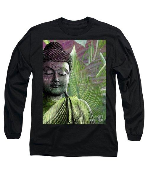 Meditation Vegetation Long Sleeve T-Shirt by Christopher Beikmann