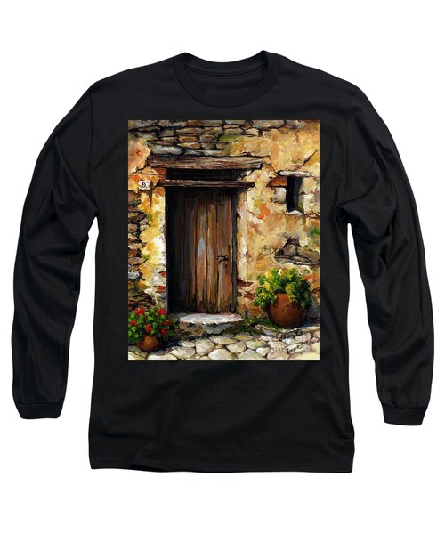 Mediterranean Portal Long Sleeve T-Shirt by Emerico Imre Toth