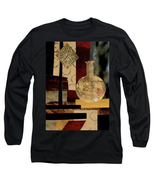 Long Sleeve T-Shirt featuring the mixed media Mediterranean Vase by Patricia Cleasby