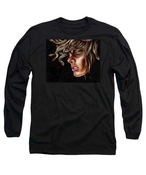 Long Sleeve T-Shirt featuring the painting Medusa No. One by Hiroko Sakai