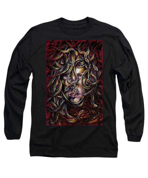 Long Sleeve T-Shirt featuring the painting Medusa No. Three by Hiroko Sakai