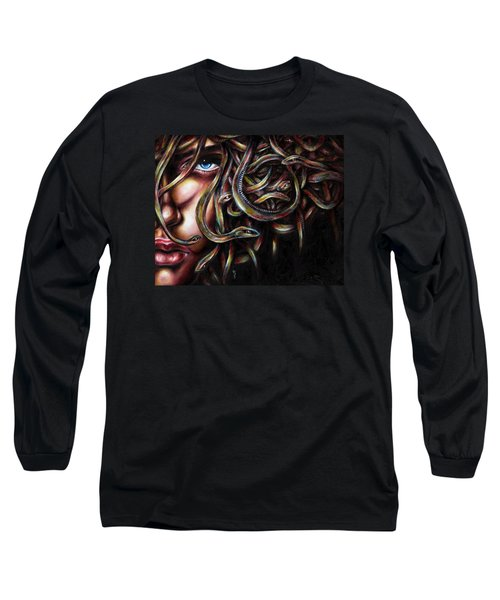 Long Sleeve T-Shirt featuring the painting Medusa No. Two by Hiroko Sakai