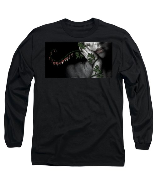 Long Sleeve T-Shirt featuring the painting Melancholy by Pat Erickson