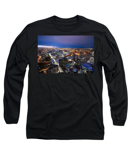 Melbourne At Night Long Sleeve T-Shirt