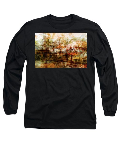 Long Sleeve T-Shirt featuring the mixed media Memories #1 by Sandy MacGowan