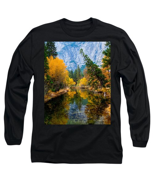 Merced River And Leaning Pine Long Sleeve T-Shirt