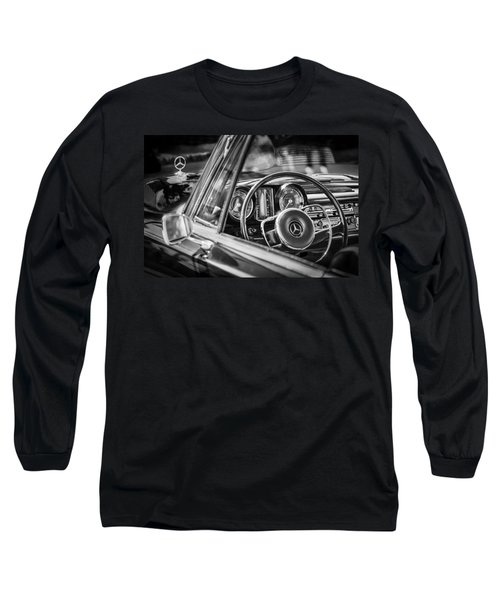 Mercedes-benz 250 Se Steering Wheel Emblem Long Sleeve T-Shirt by Jill Reger