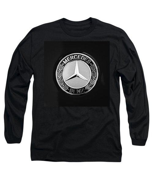 Mercedes-benz 6.3 Gullwing Emblem Long Sleeve T-Shirt by Jill Reger